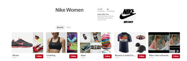 Nike woman Pinterest